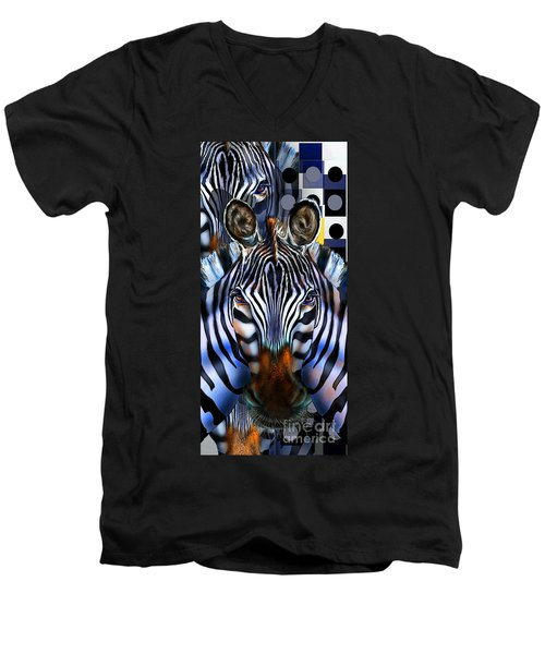 Zebra Dreams Men's V-Neck T-Shirt