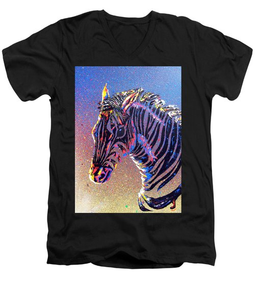 Zebra Fantasy Men's V-Neck T-Shirt
