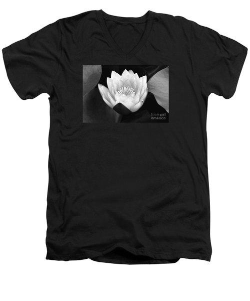 Men's V-Neck T-Shirt featuring the photograph Waterlily Rising  by John F Tsumas