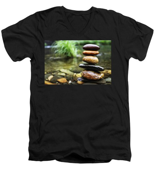 Zen Stones Men's V-Neck T-Shirt