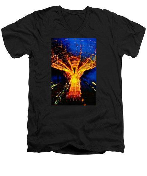 Zeus Men's V-Neck T-Shirt by Daniel Thompson
