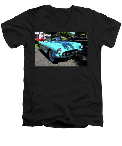 55 Corvette Men's V-Neck T-Shirt
