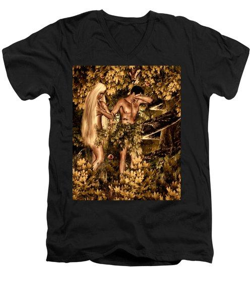 Birth Of Sin Men's V-Neck T-Shirt