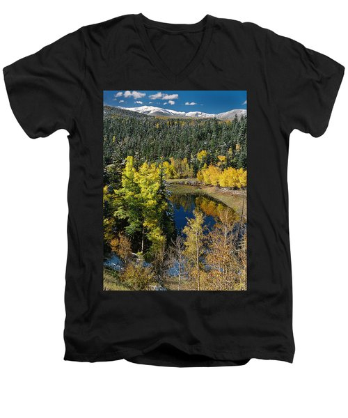 Fall Color On Bobcat Pass Men's V-Neck T-Shirt