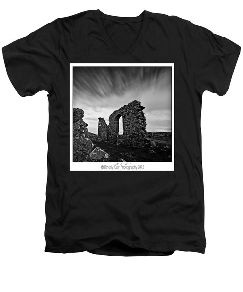 Llanddwyn Island Ruins Men's V-Neck T-Shirt