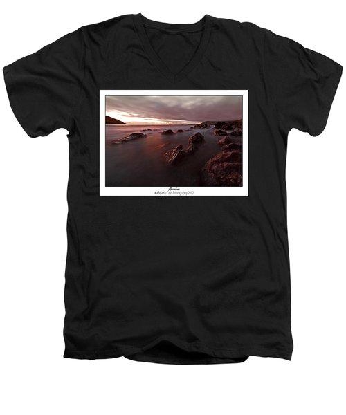 Manorbier Dusk Men's V-Neck T-Shirt