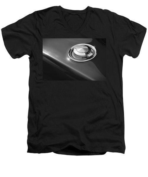 Men's V-Neck T-Shirt featuring the photograph 1968 Dodge Charger Fuel Cap by Gordon Dean II