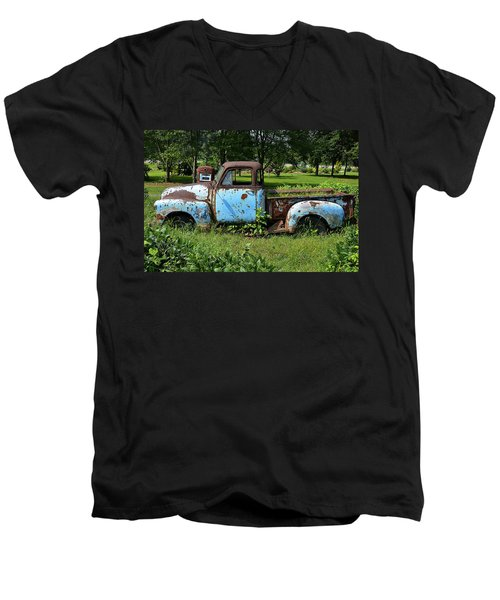 Men's V-Neck T-Shirt featuring the photograph '48 Chevy by Paul Mashburn