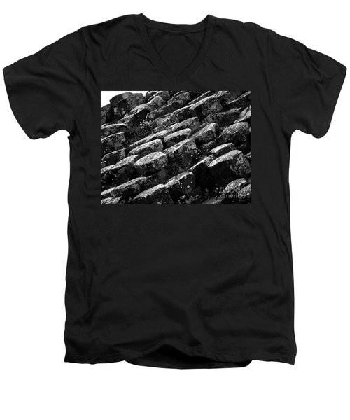 Another View Of The Giants Causeway Men's V-Neck T-Shirt