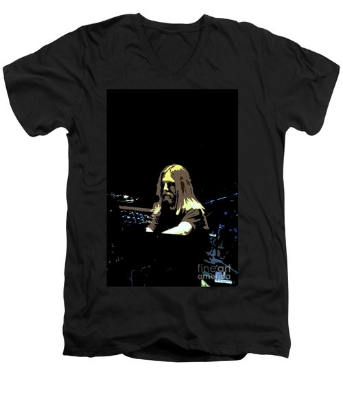 Men's V-Neck T-Shirt featuring the photograph Brent Mydland Of The Grateful Dead by Susan Carella