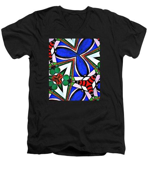 Calendoscopio Men's V-Neck T-Shirt by Sandra Lira