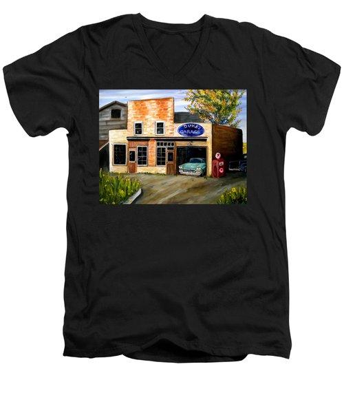 Duke's Garage Men's V-Neck T-Shirt by Renate Nadi Wesley