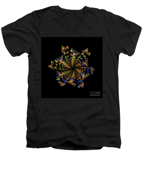 Fractal Men's V-Neck T-Shirt