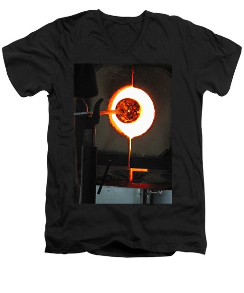Glass Blowing V Men's V-Neck T-Shirt