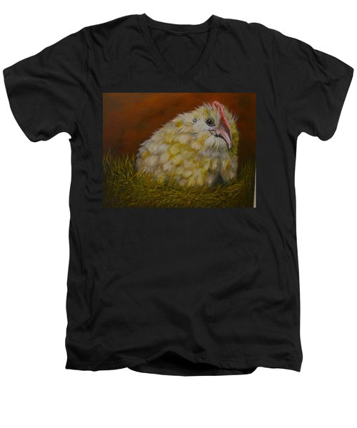 Men's V-Neck T-Shirt featuring the painting Hector by Marlyn Boyd