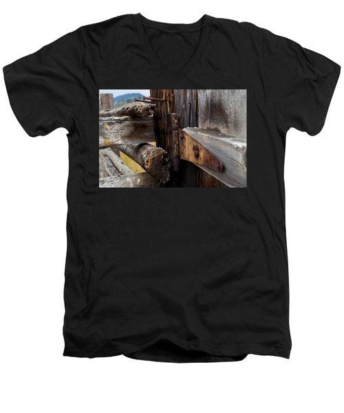 Hinged 3 Men's V-Neck T-Shirt