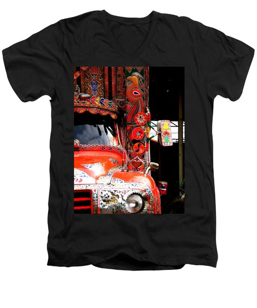 Jingly Truck Men's V-Neck T-Shirt