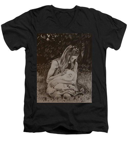 Kitty Love Men's V-Neck T-Shirt