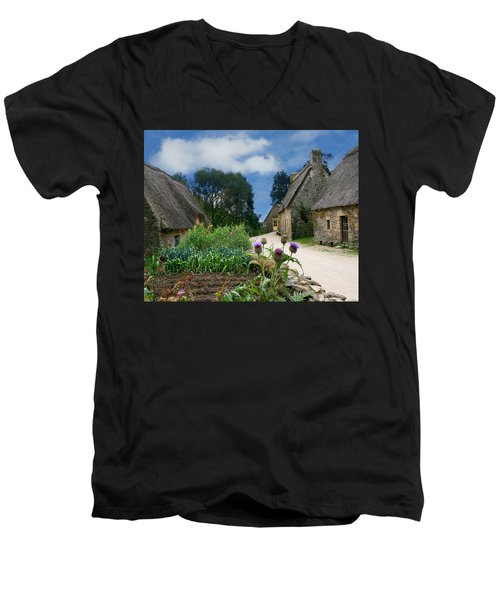 Medieval Village Men's V-Neck T-Shirt