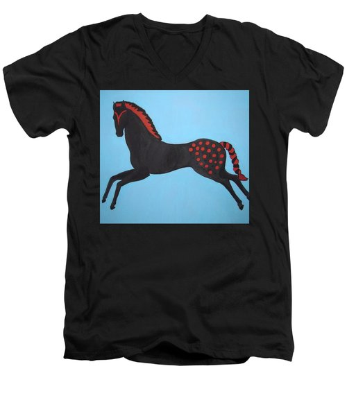 Painted Pony Men's V-Neck T-Shirt by Stephanie Moore