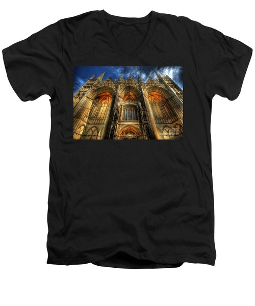 Peterborough Cathedral Men's V-Neck T-Shirt