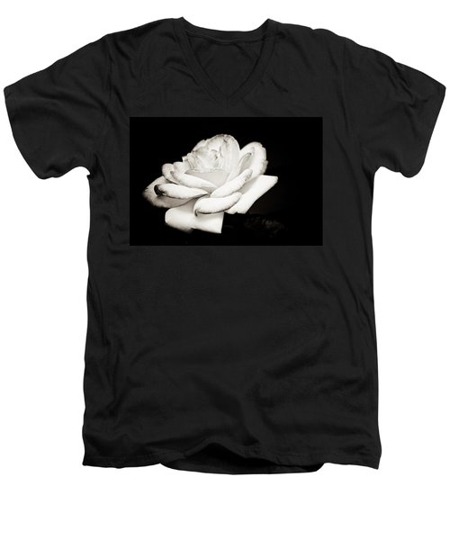 Men's V-Neck T-Shirt featuring the photograph Pure Beauty by Sara Frank
