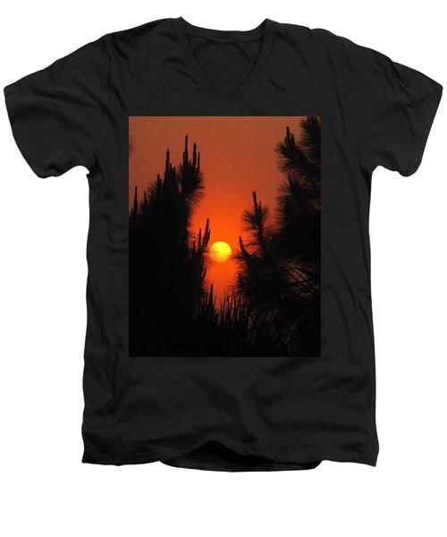 Rise And Pine Men's V-Neck T-Shirt