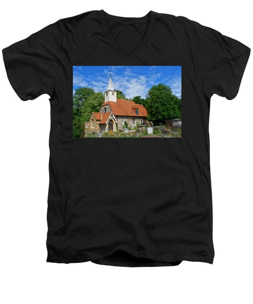 St Laurence Church Cowley Middlesex Men's V-Neck T-Shirt
