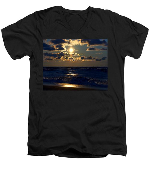 Sunset Over The City Men's V-Neck T-Shirt