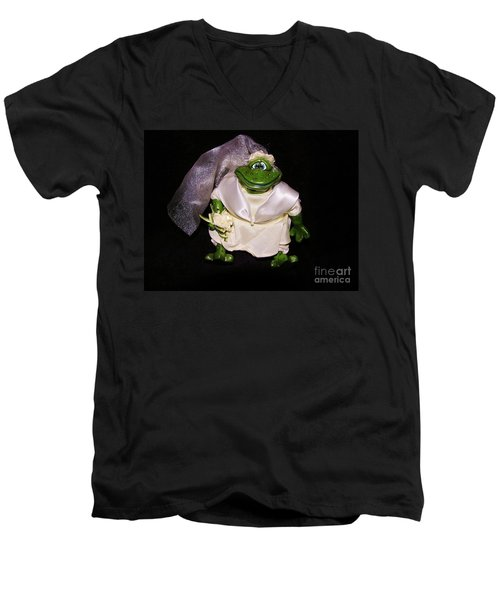 Men's V-Neck T-Shirt featuring the photograph The Green Bride by Sherman Perry