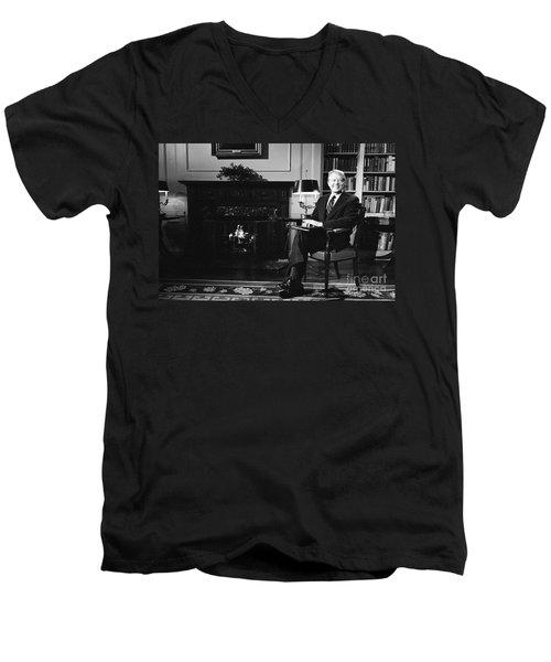 Jimmy Carter (1924- ) Men's V-Neck T-Shirt by Granger