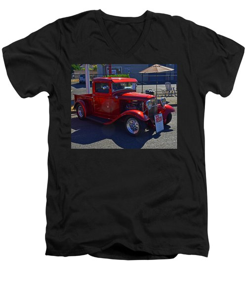 1932 Ford Pick Up Men's V-Neck T-Shirt by Tikvah's Hope
