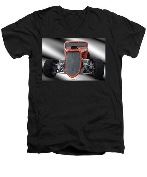 1933 Ford Roadster - Hotrod Version Of Scream Men's V-Neck T-Shirt