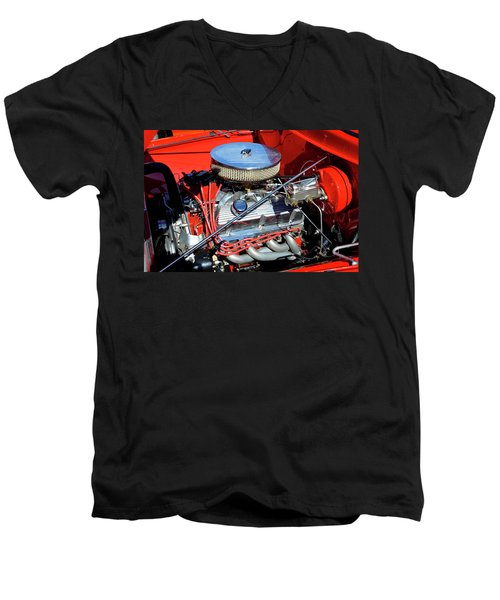Men's V-Neck T-Shirt featuring the photograph 1953 Ford Pickup by Paul Mashburn