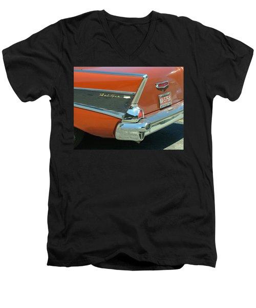 1957 Chevy Belair Men's V-Neck T-Shirt