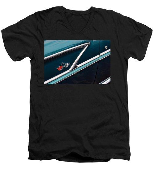 Men's V-Neck T-Shirt featuring the photograph 1958 Chevrolet Bel Air by Gordon Dean II
