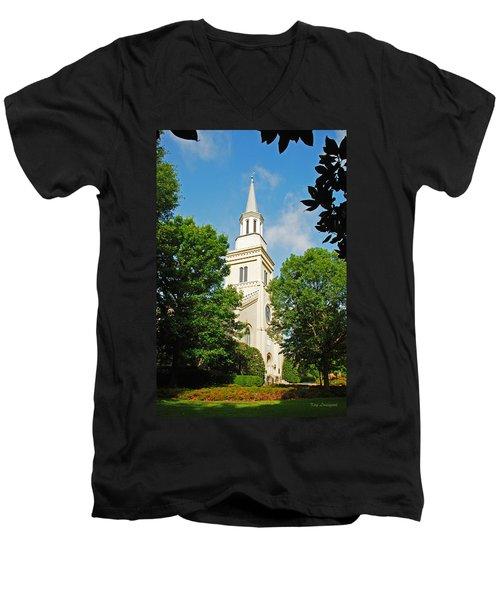 1st Presbyterian Church Men's V-Neck T-Shirt by Kay Lovingood