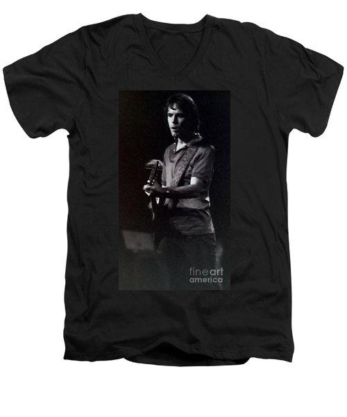 Bob Weir Of The Grateful Dead Men's V-Neck T-Shirt by Susan Carella