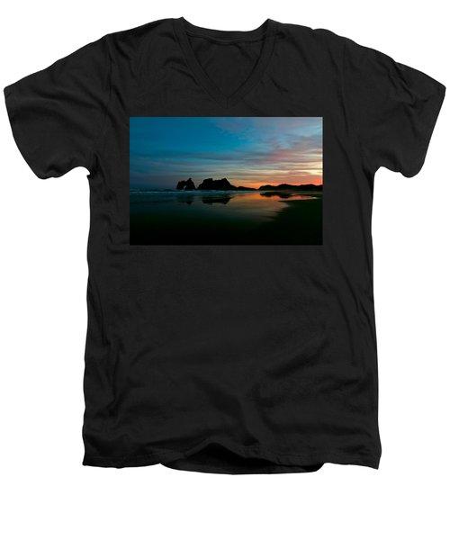 Golden Morning At A Beach  Men's V-Neck T-Shirt