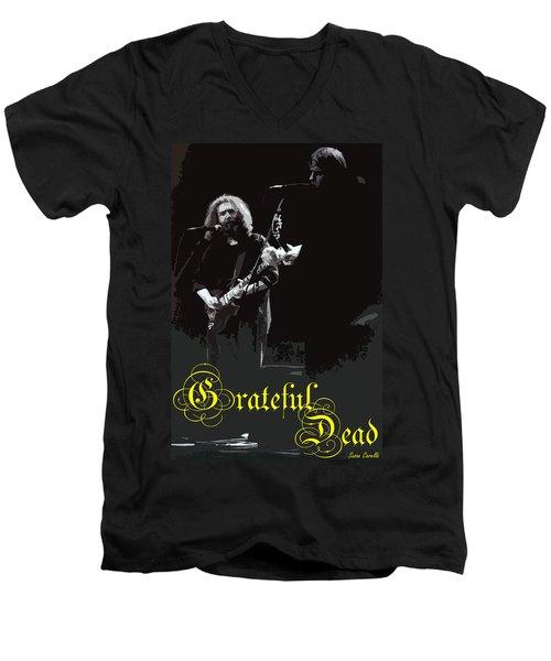 Men's V-Neck T-Shirt featuring the photograph Grateful Dead  by Susan Carella