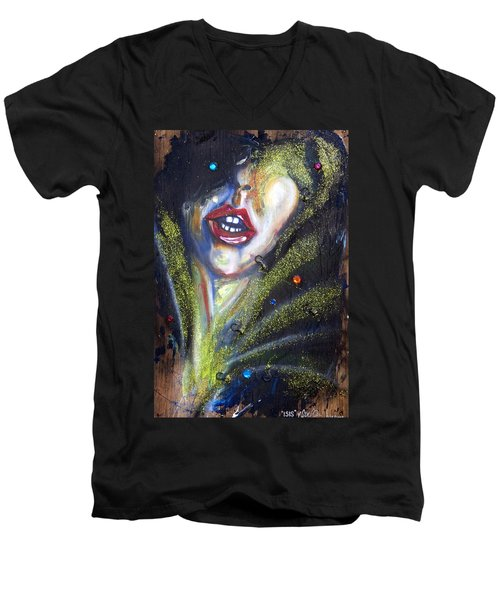 Isis Men's V-Neck T-Shirt by Sheridan Furrer