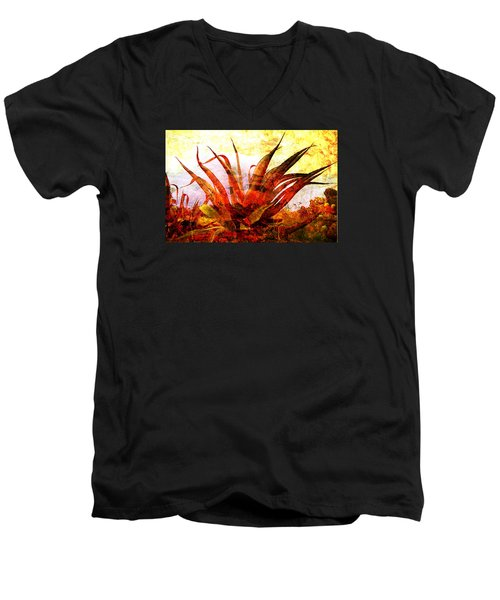 Maguey Men's V-Neck T-Shirt by J- J- Espinoza