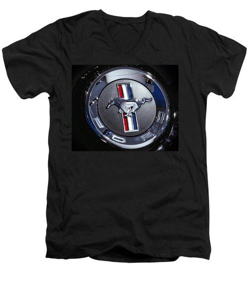 2012 Ford Mustang Trunk Emblem Men's V-Neck T-Shirt
