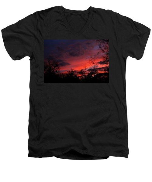 2012 Sunrise In My Back Yard Men's V-Neck T-Shirt
