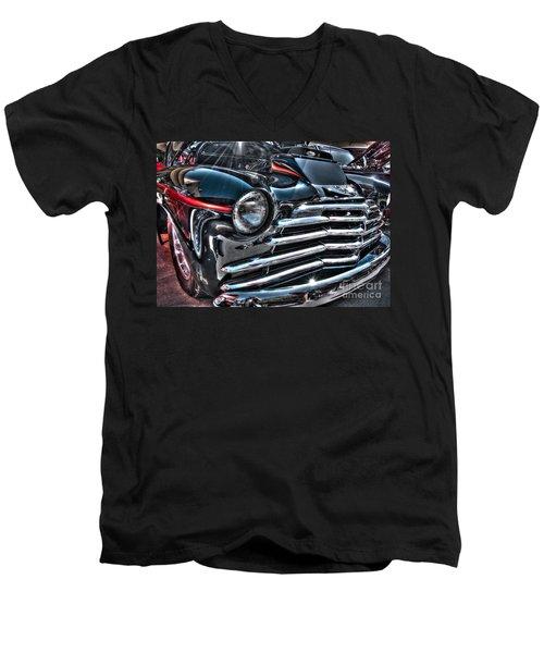 48 Chevy Convertible 2 Men's V-Neck T-Shirt
