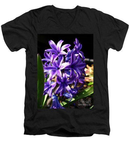 Men's V-Neck T-Shirt featuring the photograph Hyacinth Named Peter Stuyvesant by J McCombie