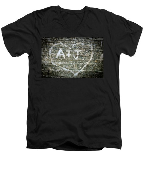 Men's V-Neck T-Shirt featuring the photograph A And J by Julia Wilcox