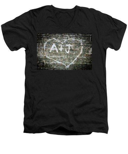 A And J Men's V-Neck T-Shirt