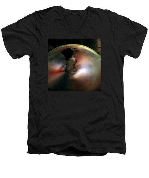 A Female Whirling Dervish In Capadocia Men's V-Neck T-Shirt