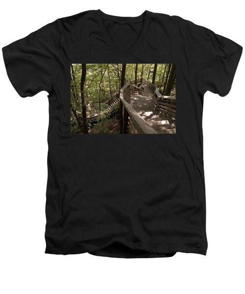 A Long Way Down Men's V-Neck T-Shirt by Jeannette Hunt